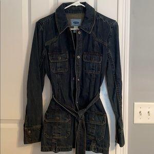 Women's denim trench jacket